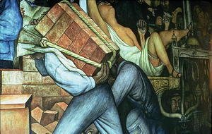 Diego Rivera - Detail of a loadcarrier, Mexico Today and Tomorrow, from the series Epic of the Mexican People, 1934-5