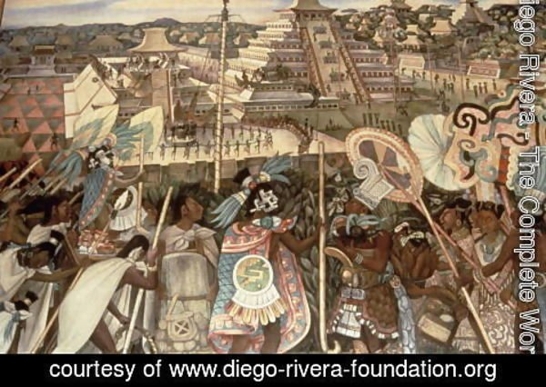 Diego Rivera - The Culture of Totonaken, detail from the series, Pre-hispanic and Colonial Mexico,  1945-52