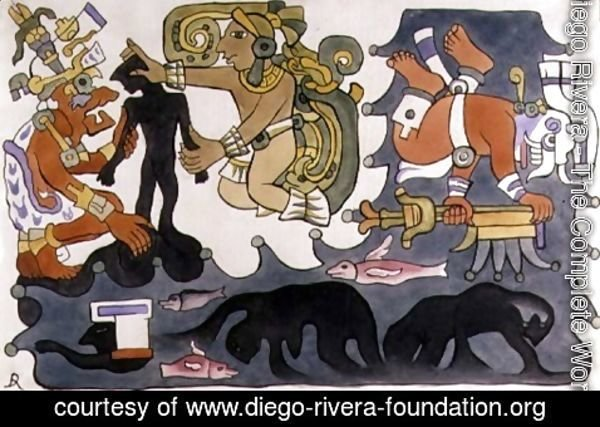 Diego Rivera - The Creation of Man, Popol Vuh