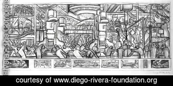 Diego Rivera - The Making of a Motor, 1932