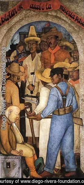 Diego Rivera - Death of the Capitalist 1928