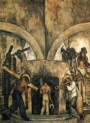 Diego Rivera - Entry into the Mine (Entrada a la mina) 1923