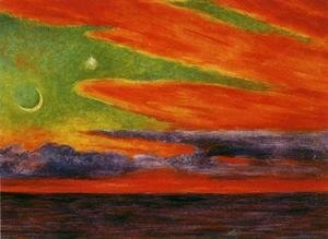 Diego Rivera - Evening Twilight at Acapulco (Atardecer en Acapulco) 1956