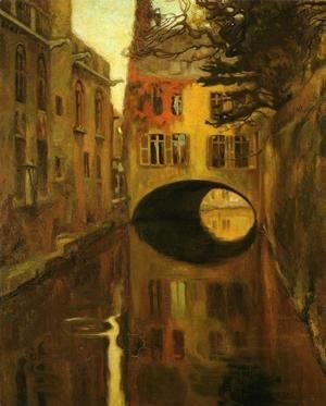 Diego Rivera - House over the Bridge (Casa sobre el puente) 1909