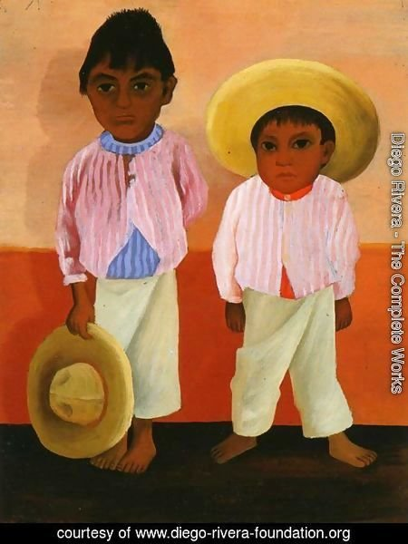 My Godfathers Sons Portrait of Modesto and Jesus Sanchez (Los hijos de mi compadre Retratos de Modesto y Jesus Sanchez) 1930