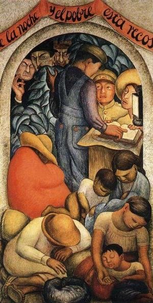 Diego Rivera - Night of the Poor 1928
