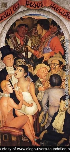 Diego Rivera - Night of the Rich 1928