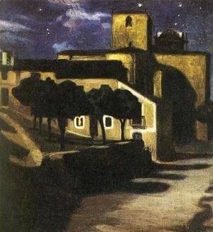 Diego Rivera - Night Scene in Avila 1907