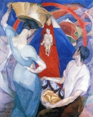 Diego Rivera - The Adoration of the Virgin 1913