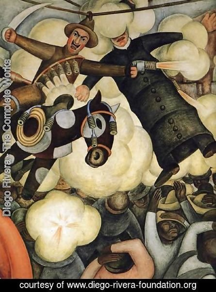 Diego Rivera - The Burning of the Judases Detail 1923 to 24