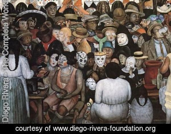Diego Rivera - The Day of the Dead (Bottom Detail) 1924