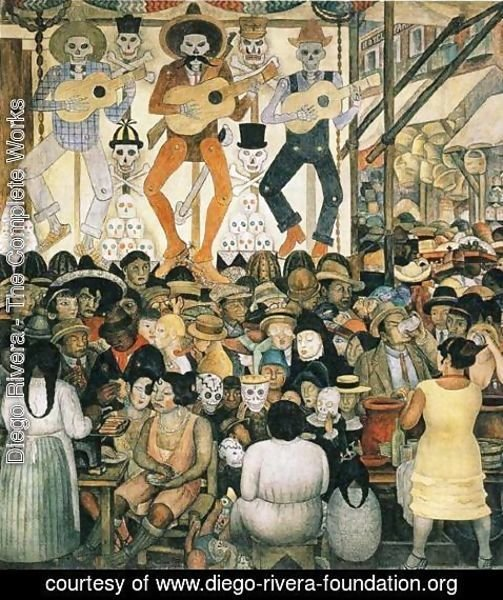 Diego rivera the complete works the day of the dead for Diego rivera day of the dead mural