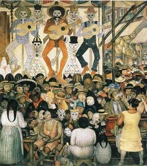 Diego Rivera - The Day of the Dead 1924