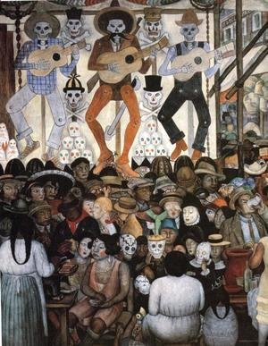 Diego Rivera - The Day of the Dead(Dark Version) 1924