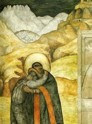 Diego Rivera - The Embrace 1923