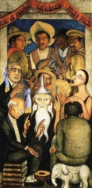 Diego Rivera - The Learned Banquet 1928