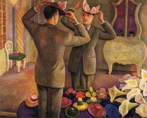 Diego Rivera - The Milliner Potrait of Henri de Chatillon 1944