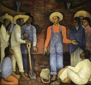 Diego Rivera - The Organization of the Agrarian Movement 1926