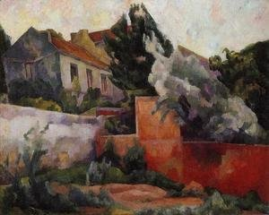 Diego Rivera - The Outskirts of Paris 1918