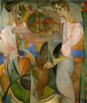 Diego Rivera - Woman at a Well (reverse of Zapatista Landscape La mujer del pozo) 1913