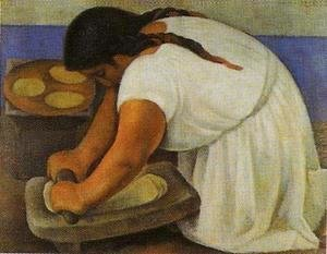 Diego Rivera - Woman Grinding Maize 1924 (La molendera)